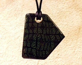 Very original form mosaic patterns necklace