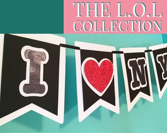 I Love NY Banner,  New York City, NYC Banner, Party Supplies
