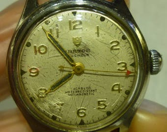 I20 Vintage Swiss Made Orator Wrist Watch 106D 1187, 17 Jewels, Working.