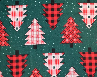 1993 Fabric Traditions Christmas Tree Quilting Fabric, Christmas Quilting Fabric, Holiday Fabric, Christmas Tree Fabric, Vintage Fabric