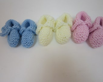 Reknit baby slippers
