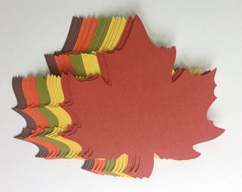 20 of 4 inch Large Fall Maple Leaves Die Cuts Thanksgiving Gift Tags Scrapbooking Card embellishment Leave Punches set of 20