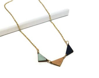 Banner Necklace | Triangle banner necklace | wooden necklace | triangle banner necklace |