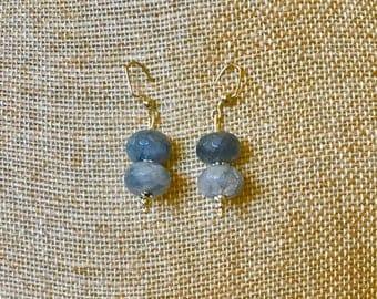 Grey Stone Drop Earrings