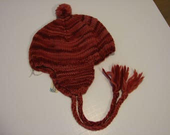 Hand knit Winter Flaphat