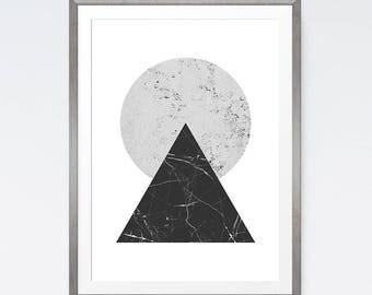 Geometric prints, Scandinavia poster, Download print, Graphic art, Large wall art, Grey abstract art, Minimalist poster, Scandinavian print