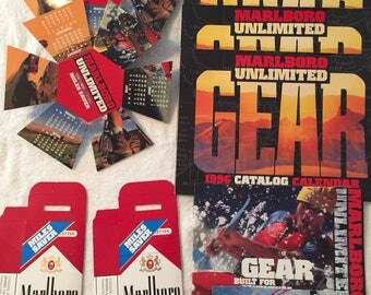 Collection of 1996 Marlboro gear advertising
