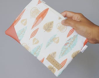Leaves zipper pouch