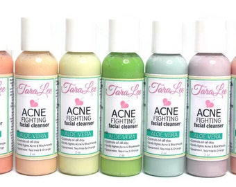 Customizable Acne Fighting Face Wash - Choose Size, Scent & Color - Best Acne Cleanser - Acne Face Wash