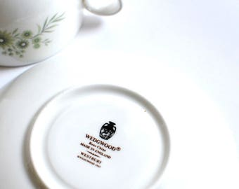 Wedgwood Westbury Tea cup Saucer  vintage  china search replacements