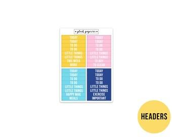 HEADERS   Escape   Planner Stickers    Add on   Matte