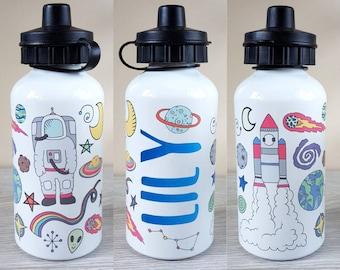 Space water bottle personalised bottle custom water bottle sports bottle gift gift for her