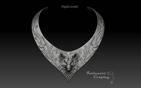 Sansa Stark style wolf choker necklace, silver finish wolf head choker, GOT custom commission payment plan