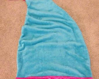 Mermaid Tail Minky Blanket, Child Mermaid Tail Blanket, Toddler Mermaid Blanket, Girl Mermaid Blanket, Mermaid Blanket