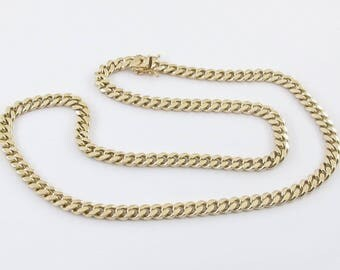 "14K Solid Yellow Gold Miami Cuban link Chain 26.5"" 122.2 grams"