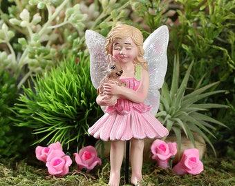 Fairy Garden  - Blossom And Pet Bunny - Miniature