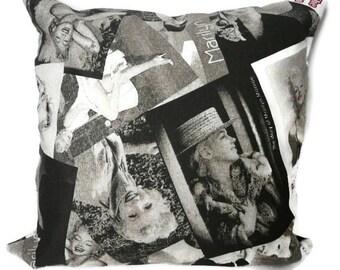 Marilyn Monroe pillow cover, pillowcase, cushion cover, decorative throw pillow , Marilyn M pillow, movie star print,  Marilyn M fan.
