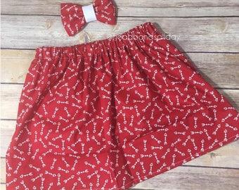 Cupid's arrow skirt and bow