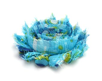 Decorative blue and green flower