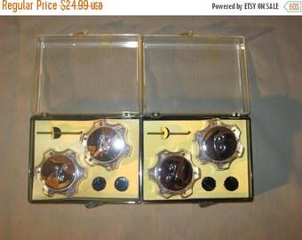 30% Off Sale Vintage Faucet Knobs - Acrylic Faucet Handles - 2 Sets - NOS