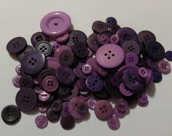 120 Dark Purple - Light Purple Buttons - #MDSP-00013