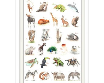 ABC Poster Animals
