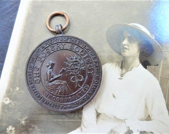 Medal The Poetry Society Incorporated Bronze Medallion Fob Awarded March 1927 Vintage Metal Collectables
