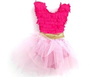 Mini Piñata - Ballerina Birthday - Princess Party -Tulle Skirt-  Pink Party Favor -Ballet Birthday Gift
