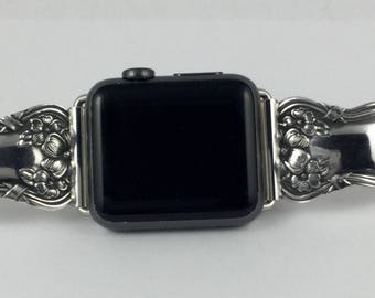 Silverplate Spoon Handle 38mm iWatch Band           Size 6 3/4 inches     #2381