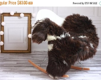 ON SALE Brown Sheepskin | Sheepskin Rug | Real Sheepskin Rug | Shaggy Rug | Chair Cover | Area Rug | Brown Rug | Carpet | Throw #HERSTY18