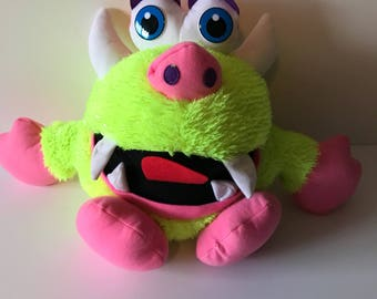 weighted stuffed animal, monster, 5 lbs, sensory toy
