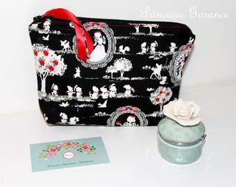 Birthday, moms * clutch makeup, travel, treasures of girl snow white cotton, cotton polka dot - to order