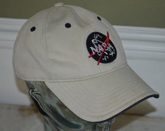 Retro NASA - Kennedy Space Center Adjustable Baseball Cap Hat (One Size Fits All)