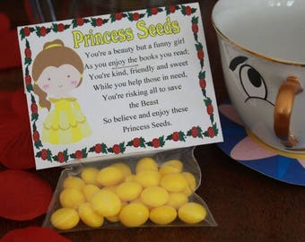 Belle Princess Seeds Printable Bag Topper