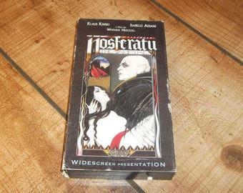 Nosferatu VHS, Klaus Kinski, Werner Herzog, Vampire, 1979, Horror Movie Video Halloween Party, Salem's Lot,  NON Rental