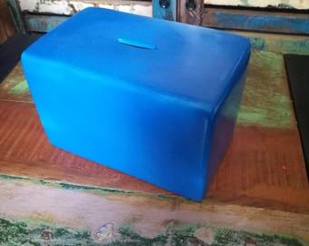 Dark Blue Money Box, Ceramic Money Box, Ceramic