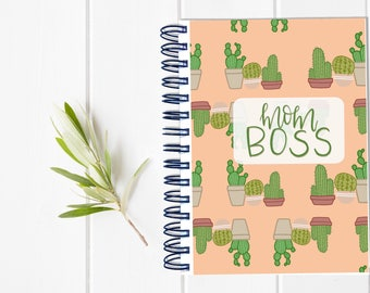 Small Undated Mom Planner - One Year Fill in Calendar Planner Notebook - Mother Hustler Weekly Planbook - Monthly Weekly Mom Boss Schedule
