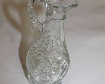 Vintage Pitcher or Decanter, Not Sure, Maybe Crystal or cut Glass, Possibly Indiana Glass company, Beautiful Design Great Price,