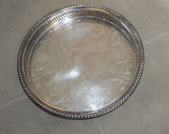 Vintage Silver Serving Tray or Vanity Tray to Hold Perfumes etc., International Silver Company, Silver Plated Possible, Bathroom Decoration