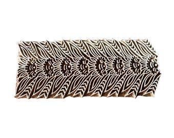 Floral border hand carved Stamp Indian Wood Stamp Wood Block Stamp