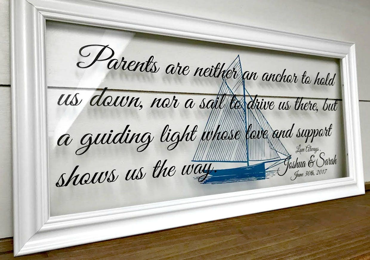 Parents Gift Wedding: Parent Wedding Gift Parents Of The Bride Gift Wedding Gifts