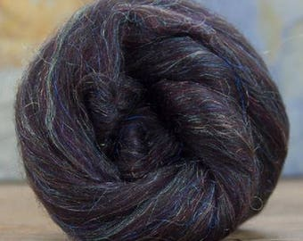 Merino Wool/Nylon Combed Top/Roving by the ounce - Bedazzled Mocha