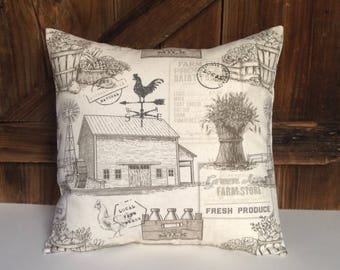 farm pillow cover/farmhouse pillow cover