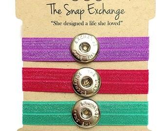 Stretch bracelet set, Hair tie Bracelet, Hair band bracelet, Bracelet for hair tie, Stretch bracelet charms, Hair elastic bracelet