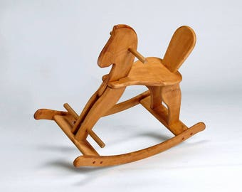 Wooden Rocking Horse - Wooden Toy for Kids - Eco Friendly Toy - Ride On & Rocking Toys - Toy Horse - Organic Baby Toys - Toddler Toys