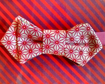 Christmas gift... Bow tie woman denim and fuchsia patterns