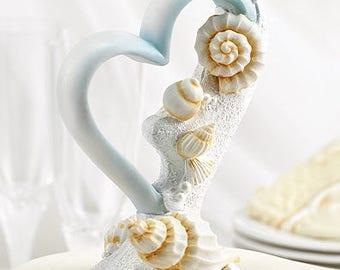 Seashell Theme Beach Wedding Cake Topper