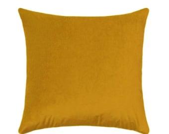 SALE Golden Yellow Velvet Pillow Cover, Golden Yellow Pillows, Velvet Pillows, Sunshine Yellow Velvet Cushion Covers, Golden Yellow Throw Pi