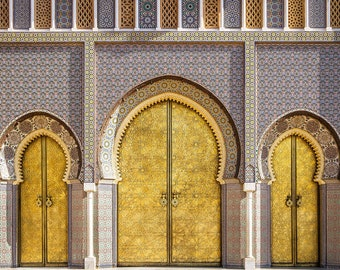 Photographie Fine Art - Toile - Portes Marocaines - Palais Royal de Fès - Maroc