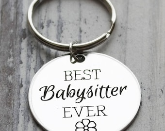 Best Babysitter Personalized Key Chain - Engraved
